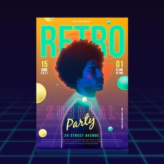 Koncepcja szablon plakat retro party