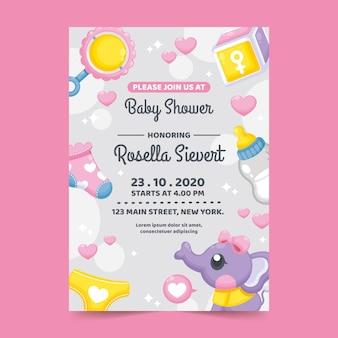 Koncepcja szablon zaproszenia baby shower