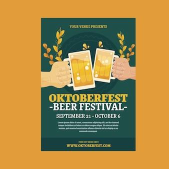 Koncepcja szablonu plakatu oktoberfest