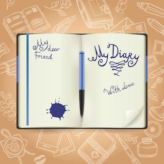 Koncepcja szkicu diary