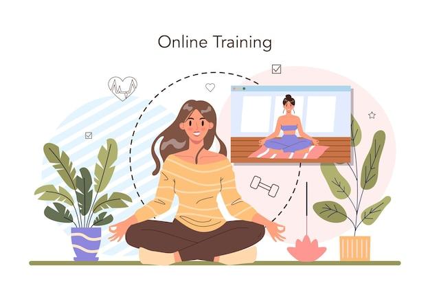 Koncepcja szkolenia online. płaska ilustracja wektorowa
