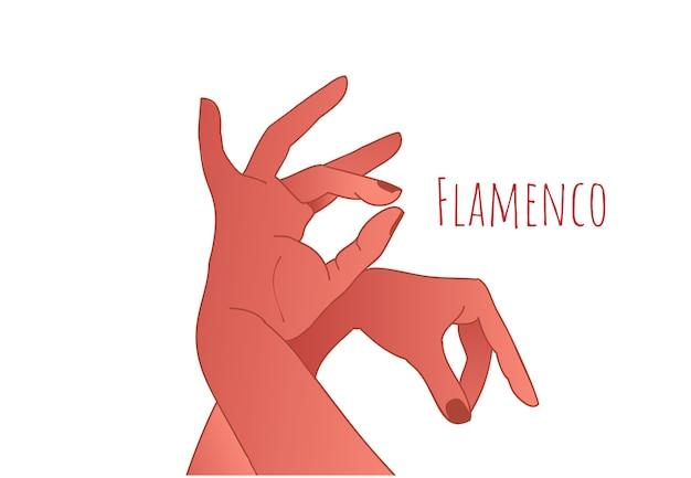 Koncepcja tańca flamenco. piękne pełne wdzięku dłonie tancerza. hiszpańska kultura.