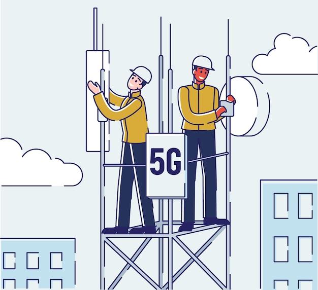 Koncepcja technologii bezprzewodowej sieci.