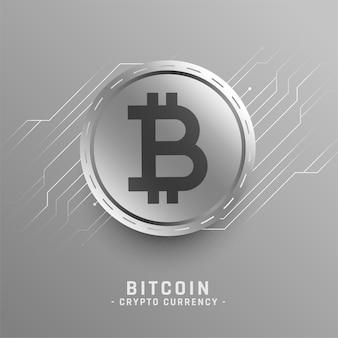Koncepcja technologii bitcoin ze schematem obwodu