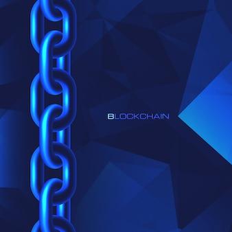 Koncepcja technologii blockchain baza danych łańcucha bloków dane kryptowaluta biznes finanse cyfrowe bitcoin waluta sieciowa kryptowaluta bezpieczeństwo wydobywanie pieniędzy tło