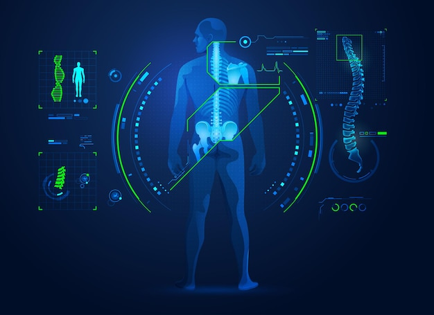 Koncepcja technologii chiropraktyki lub leczenia kręgosłupa