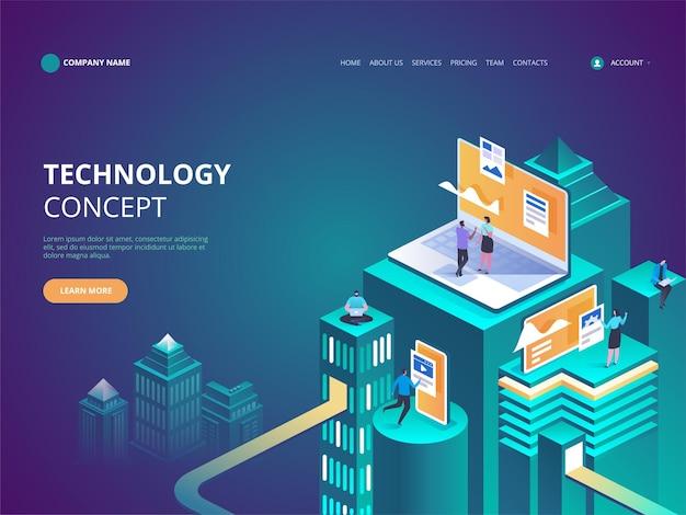 Koncepcja technologii izometrycznej. usługi informatyczne. informacje online. ochrona internetu.