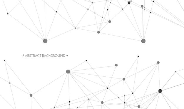 Koncepcja technologii połączone linie i kropki znak sieci geometrycznej połączone