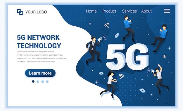 Koncepcja technologii sieci 5g. nowe usługi telekomunikacyjne systemów internetowych. osoby korzystające z szybkiego połączenia bezprzewodowego 5g.