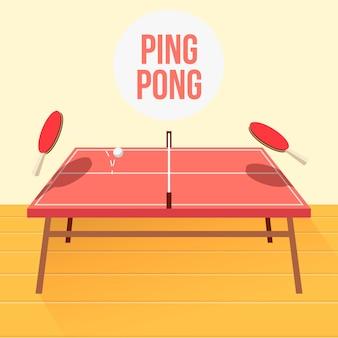 Koncepcja tenisa stołowego