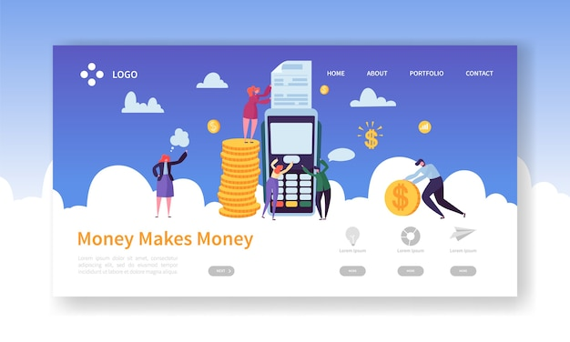 Koncepcja terminala płatności kartą kredytową dla strony docelowej