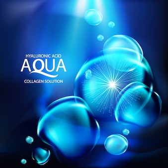 Koncepcja tła surowicy aqua kolagenu
