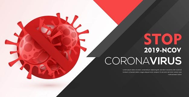 Koncepcja tła wirusa wybuchu pandemii koronawirusa covid-19