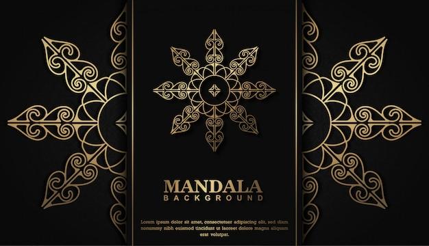 Koncepcja tło luksusowych mandali