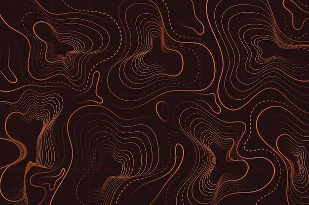 Koncepcja tło mapy topograficznej