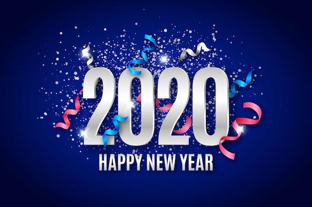 Koncepcja tło nowego roku 2020 konfetti