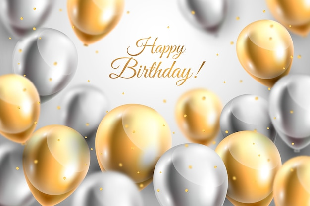 Koncepcja tło realistyczne urodziny