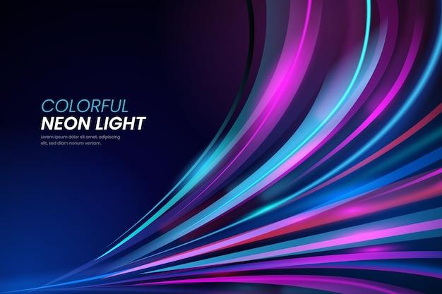 Koncepcja tło światła neonowe