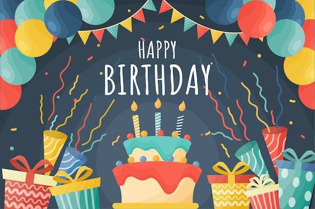 Koncepcja tło uroczysty urodziny
