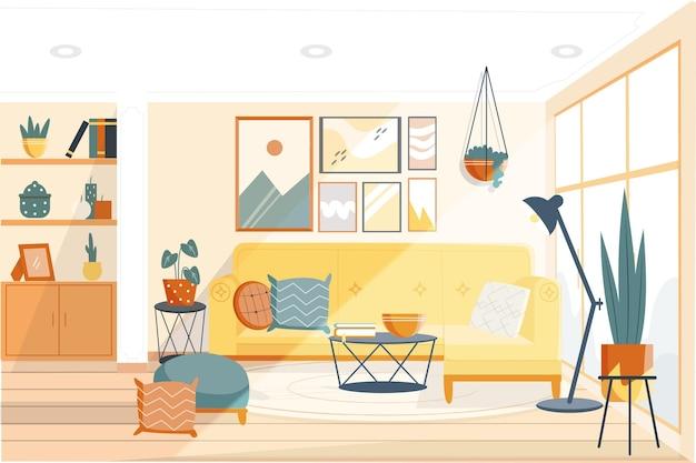 Koncepcja tło wnętrza domu