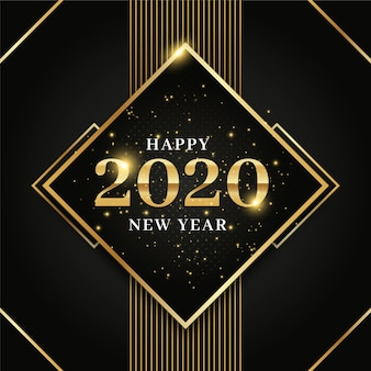 Koncepcja tło złoty nowy rok 2020