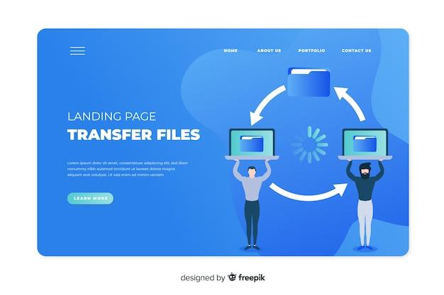 Koncepcja transferu plików dla strony docelowej