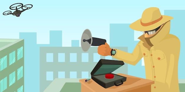 Koncepcja transparent poziomy bezpieczeństwa szpieg