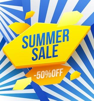 Koncepcja transparent sprzedaży latem. sezonowy marketing, 50-procentowy rabat, dobra oferta. letnie zakupy