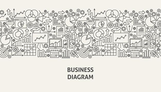 Koncepcja transparentu diagramu biznesowego. ilustracja wektorowa linii web design.