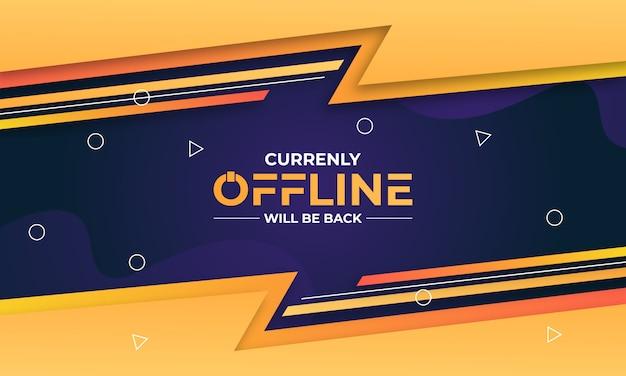 Koncepcja transparentu offline twitch
