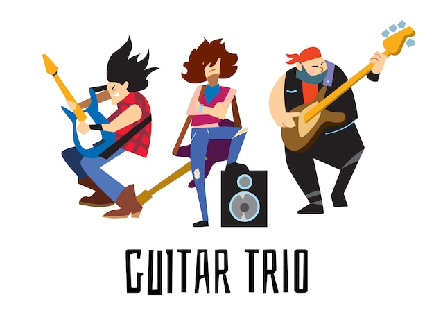 Koncepcja trio gitarowego z muzykami