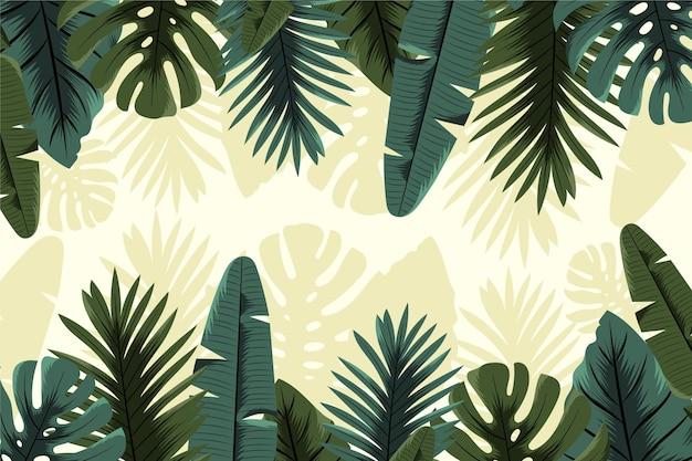 Koncepcja tropikalnej tapety ściennej