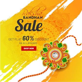 Koncepcja uroczystości raksha bandhan.