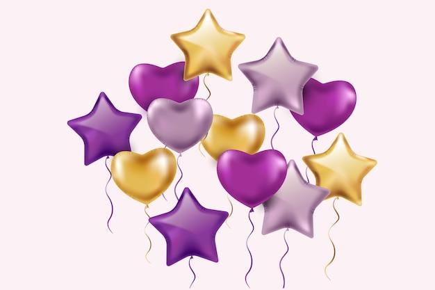 Koncepcja urodziny realistyczne balony