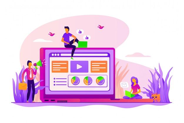 Koncepcja usług content marketingu.
