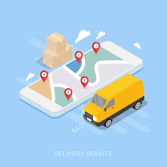 Koncepcja usługi dostawy dla aplikacji mobilnej
