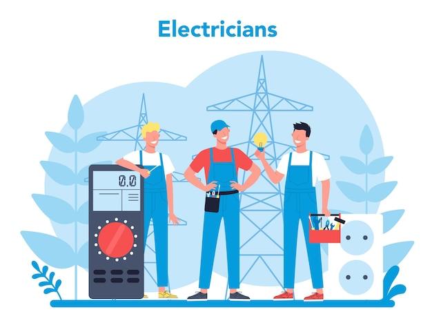 Koncepcja usługi działa energii elektrycznej