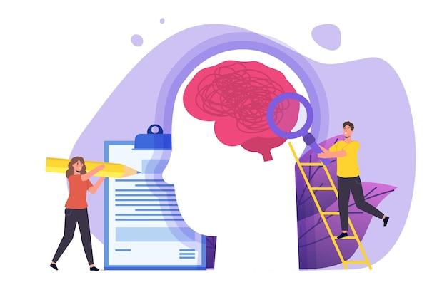 Koncepcja usługi pomocy psychologicznej. ilustracja wektorowa