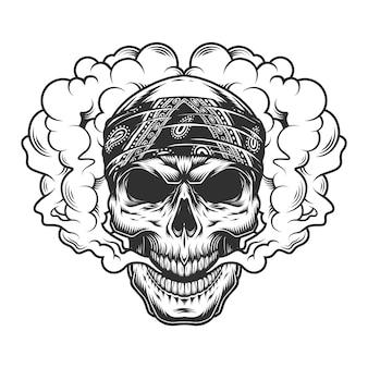 Koncepcja vaper czaszki