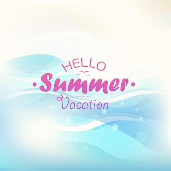 Koncepcja wakacji letnich. ilustracja wektorowa z logo