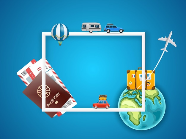 Koncepcja wakacji z akcesoriami