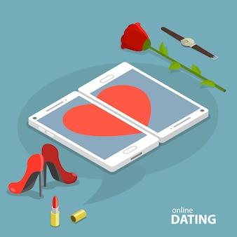 Koncepcja wektor serwis randkowy online.