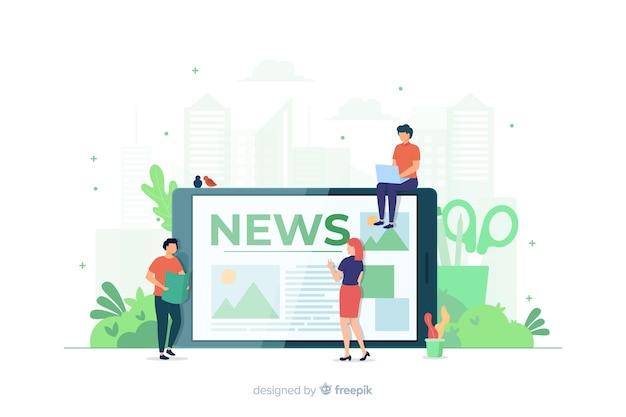 Koncepcja wiadomości na stronę docelową