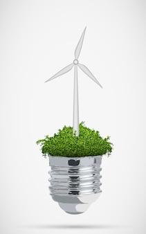 Koncepcja wiatrak czystej energii.