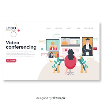 Koncepcja wideokonferencji dla strony docelowej
