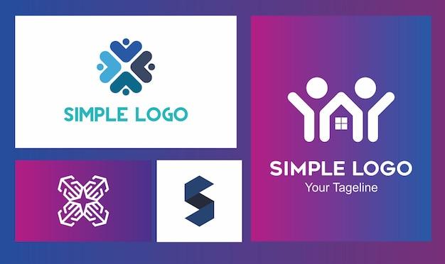 Koncepcja wielu logo dla wielu firm