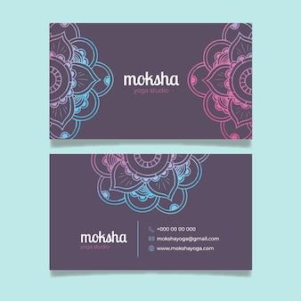 Koncepcja wizytówki mandali