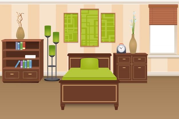 Koncepcja wnętrza sypialni