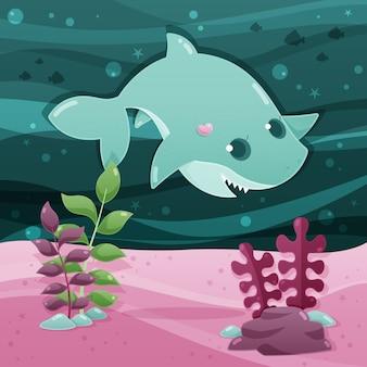 Koncepcja wody rekin dziecko