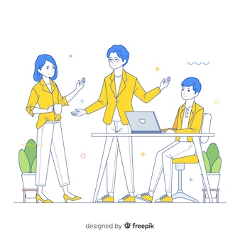 Koncepcja współpracowników dla strony docelowej